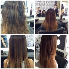 Goldwell kerasilk smoothing treatment Before\u0026After Pinterest