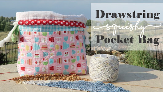 Drawstring Squishy Pocket Bag Tutorial - Confessions of a Homeschooler