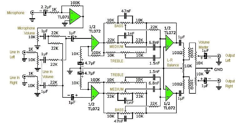 Audio Mixer Circuit Diagram - AUDIO BARU