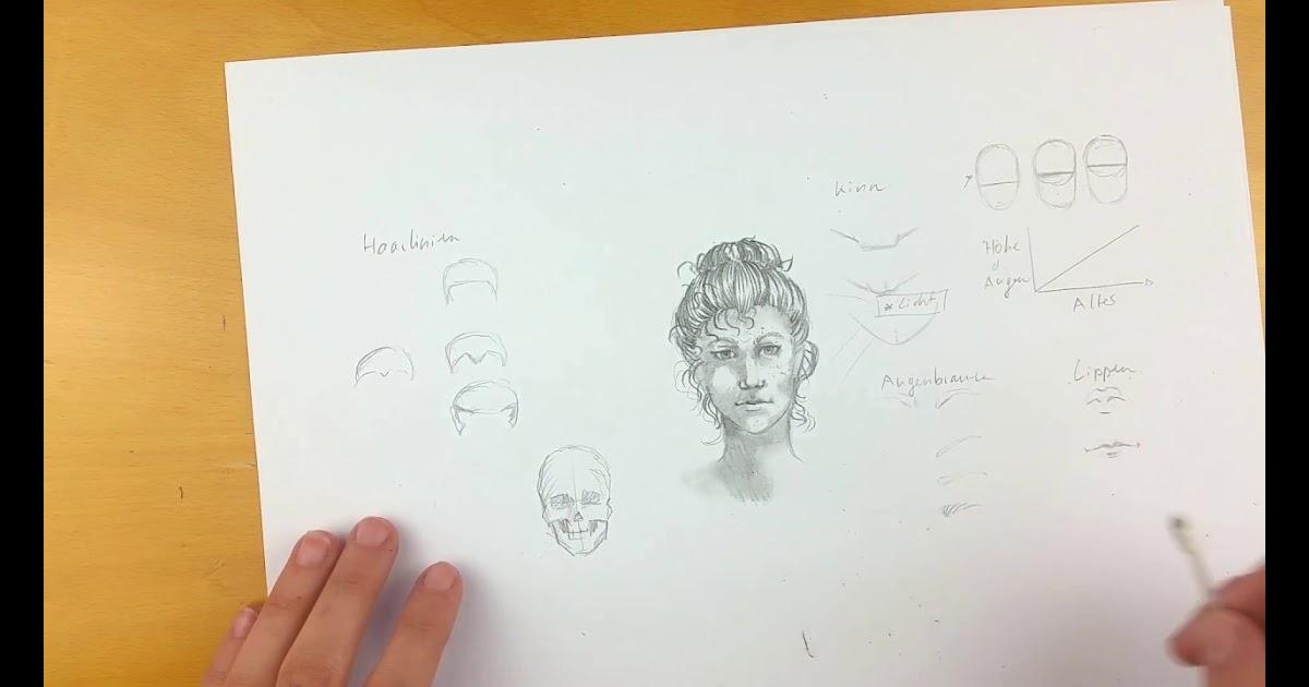 gesicht zeichnen schritt für schritt  malvorlagen gratis