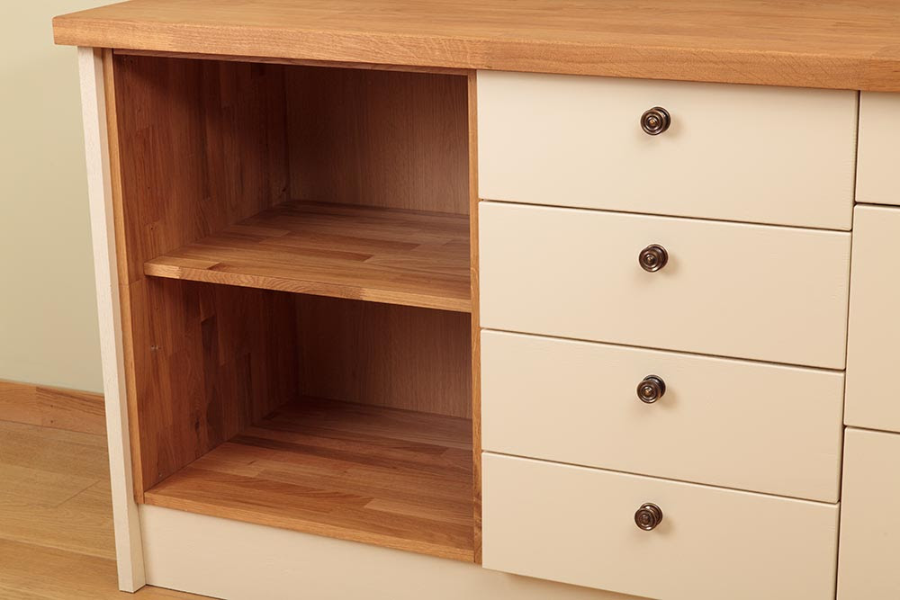 Wooden Kitchen Base Cabinets & Units - Solid Wood Kitchen ...