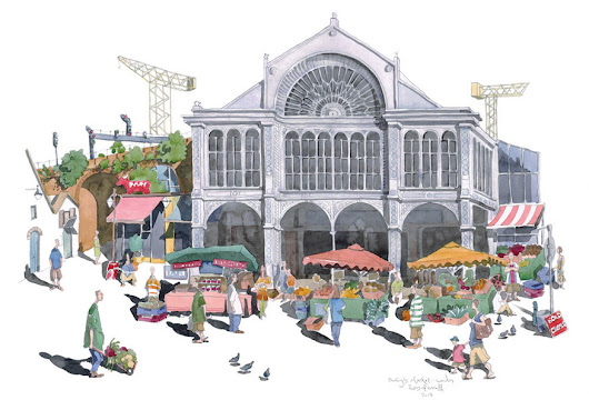 A Trip Around London's Markets... In Watercolours | Londonist