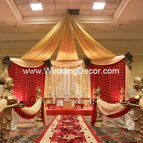 Jevons Blog A Wedding Ceremony Mandap In Red Gold And Ivory With