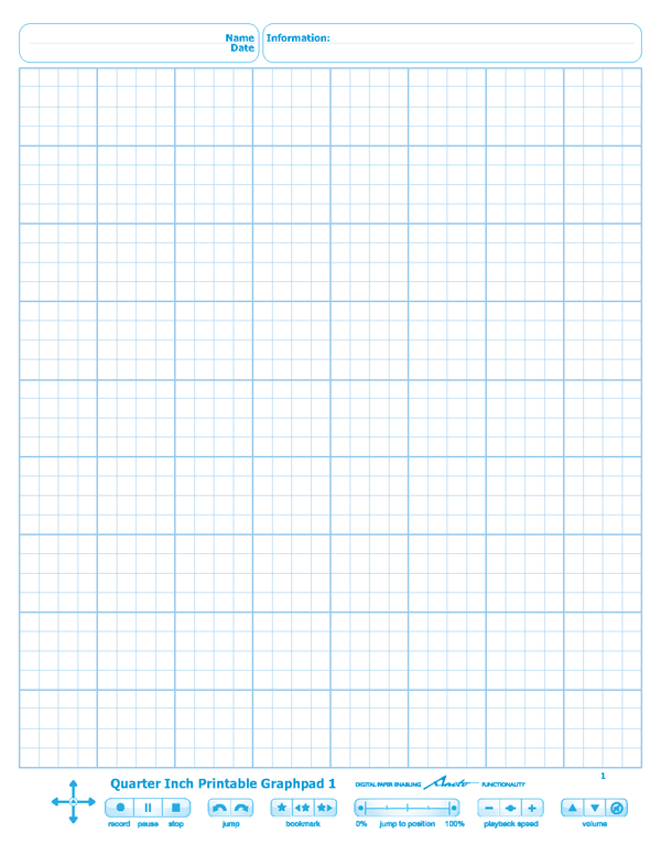 Quarter Inch Printable Graphpads #1-4 | Rohan Kapoor
