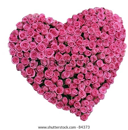Red Roses In A Heart Shape Representing Love And Valentines Day Images Stock Photo 84373 : Shutterstock