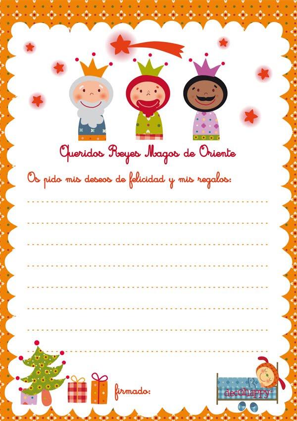 Carta A Color Para Los Reyes Magos Para Imprimir Y Pedir Juguetes