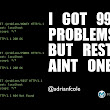 I got 99 problems, but ReST ain't one