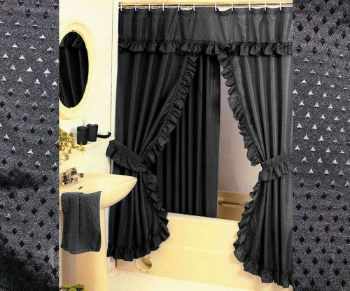 Double Swag Shower Curtains Shower Curtains Outlet
