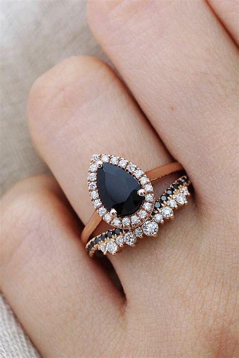 27 Unique Black Diamond Engagement Rings   Oh So Perfect