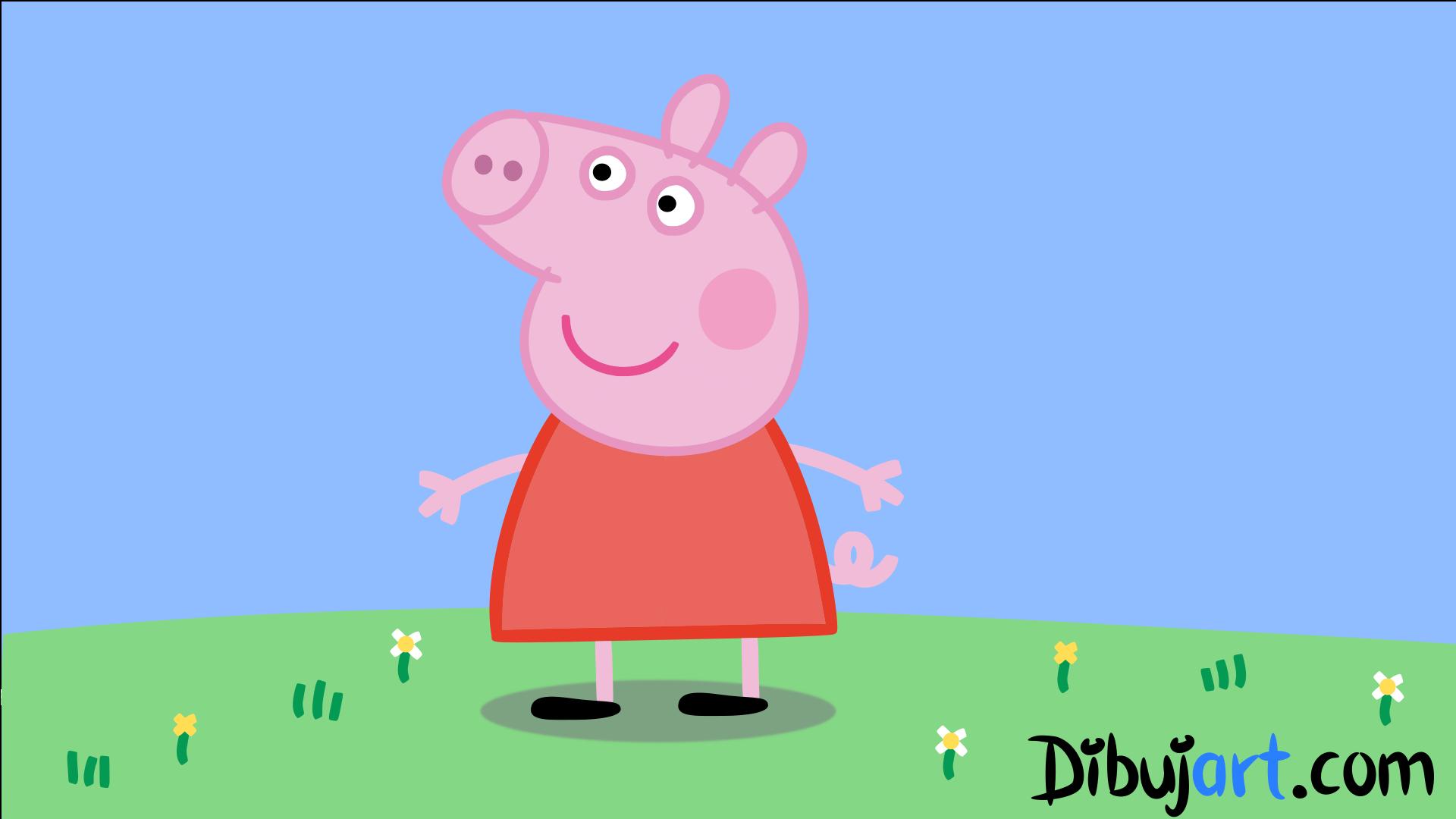 Cómo Dibujar A Peppa Pig La Estrella De Los Dibujos Animados
