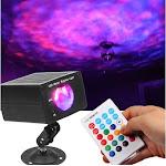 Alta Laser Lights, 7 Colors LED Party Light Projector, Strobe, Ripple, Black 95714601