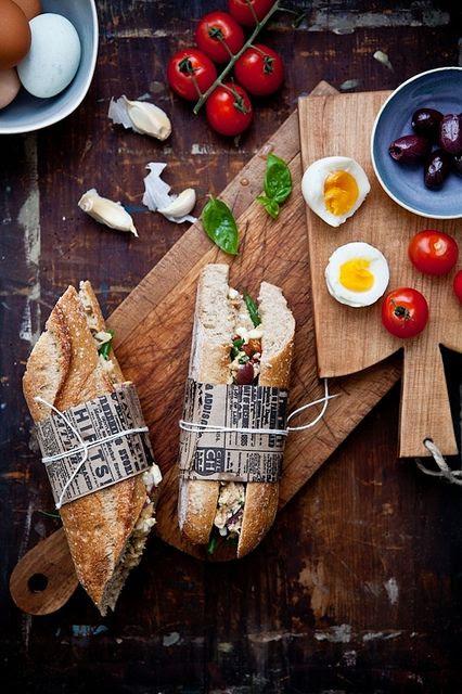 Tuna Nicoise Sandwiches & Portuguese White Gazpacho / Tartlette