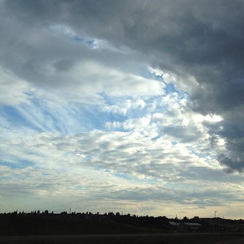 Day210 pretty Wyoming sky tonight. 7.29.13 #jessie365 #sky #clouds