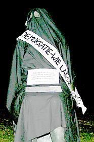 Veiled sculpture