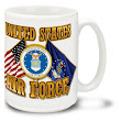 United States Air Force Cross Flags - 15oz Mug