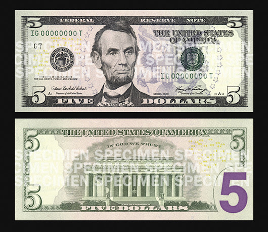 New $5 Bill To Feature Martin Luther King, Eleanor Roosevelt, Marian Anderson; Lincoln To Remain On Front