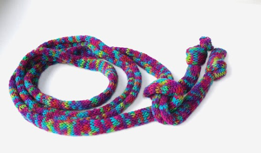 Skinny Hand Knit Scarf Multicolor Knitted Scarf Bodacious