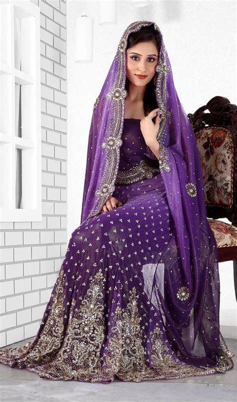 Purple Color Lengha Saree   Sarees : Cool Colors   Lengha