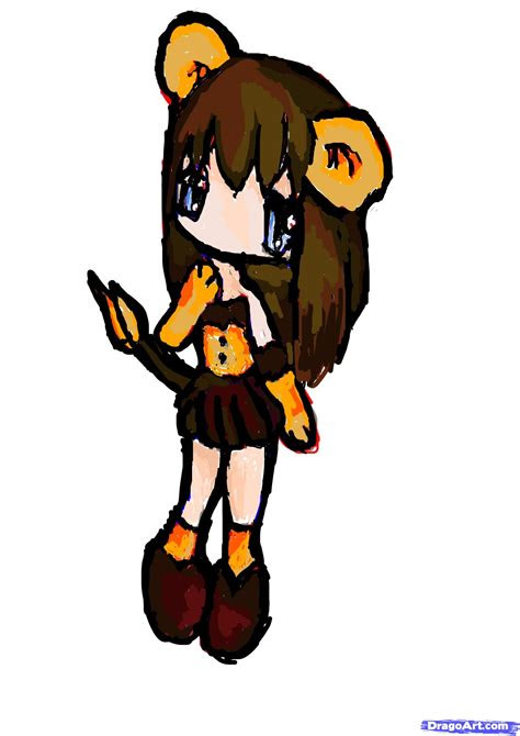 draw  cute lion girl step  step chibis draw