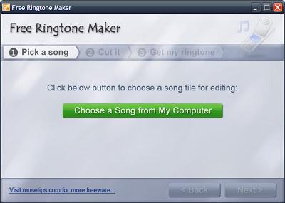 Free Ringtone Maker 2.4 -  cara mudah membuat ringtone sendiri
