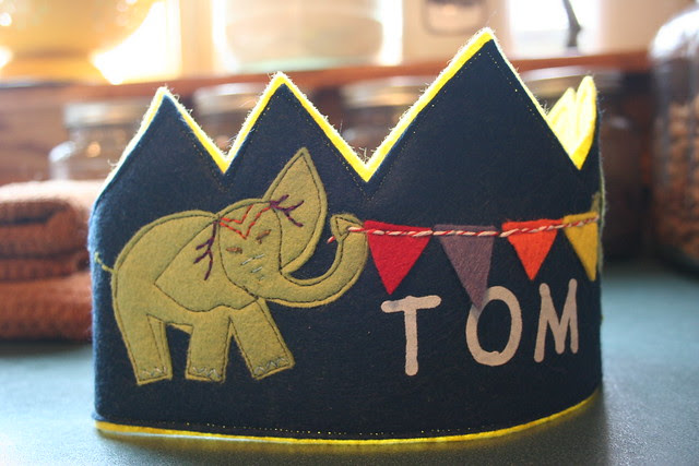 Tom's Elephant Birthday Crown