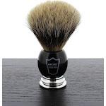 Parker Pure Badger Shaving Brush, Black and Chrome