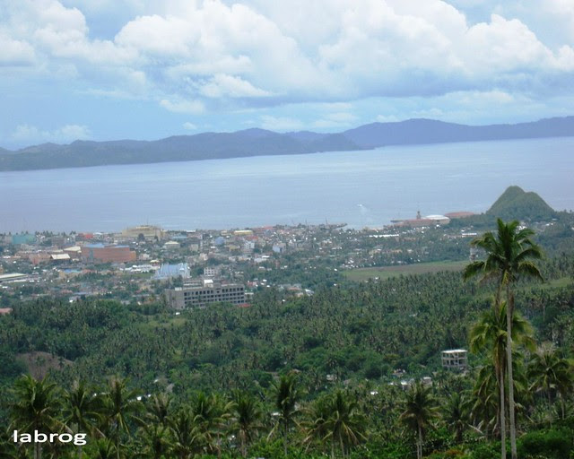 view of Albay Gulf and Legazpi City