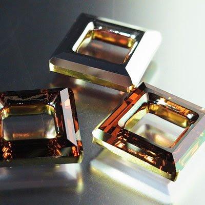 96844395005001 Crystallized - Swarovski Elements Fancy Stone - 20 mm Square Donut (4439) - Crystal Copper (1)