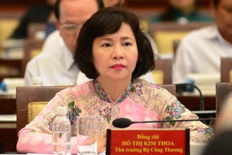 Thứ trưởng Hồ Thị Kim Thoa, Hồ Thị Kim Thoa, Phan Thị Mỹ Thanh, thứ trưởng bộ công thương, kê khai tài sản