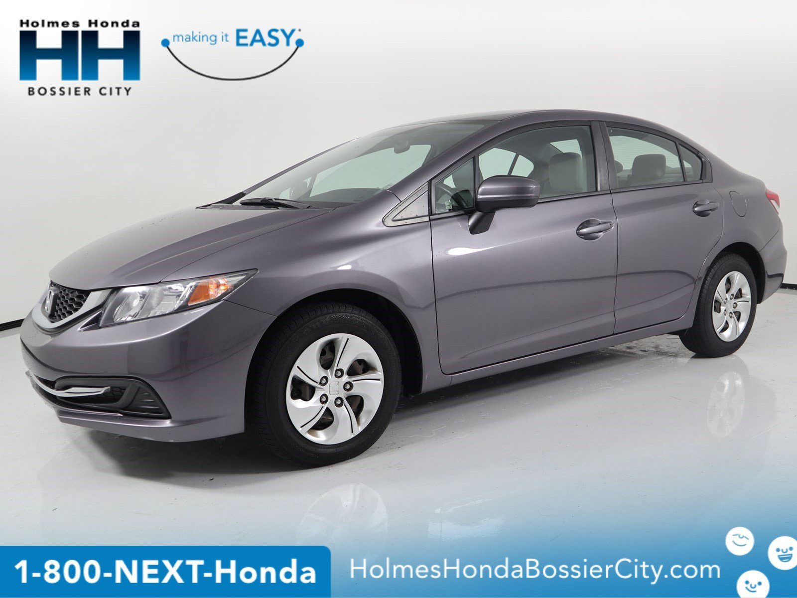Certified Pre Owned 2015 Honda Civic Sedan Lx 4dr Car In Shreveport