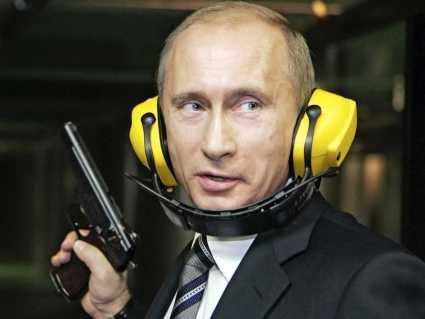 Putin practicando tiro