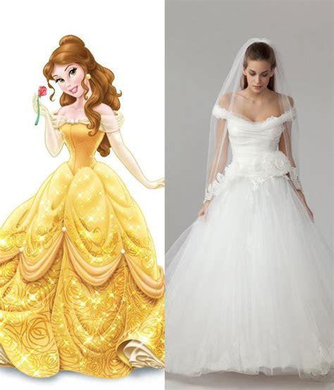 Modern wedding dresses for every Disney princess   Wedding