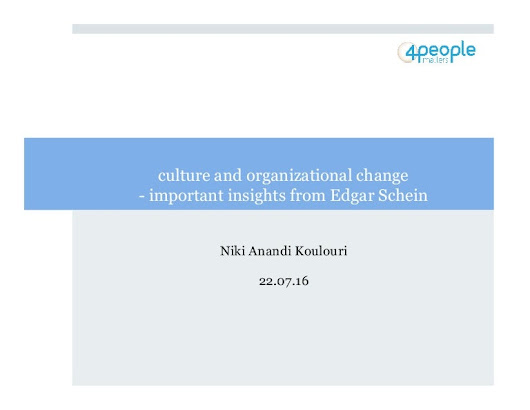culture and organizational change - important insights from Edgar Sch…