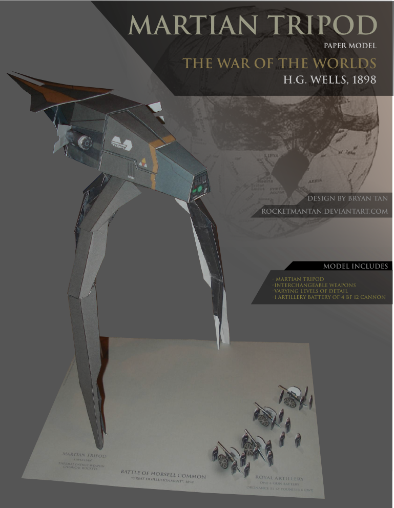 Martian Tripod Papercraft