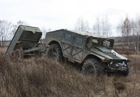 Russian self-made Hummer 5