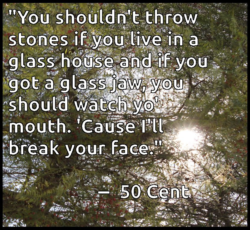 Quotes About Glass Houses 49 Quotes