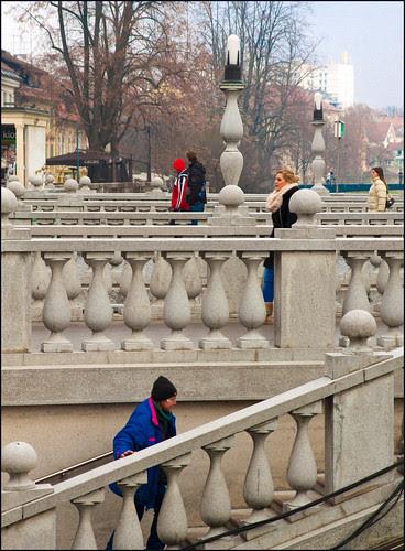 drie bruggen in ljubljana by hans van egdom