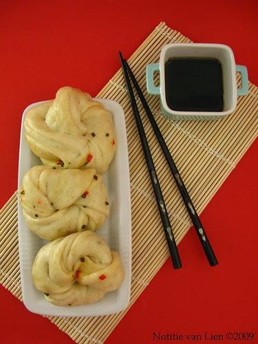 Xiangcong hua juan bao (Chinese flower steam buns)