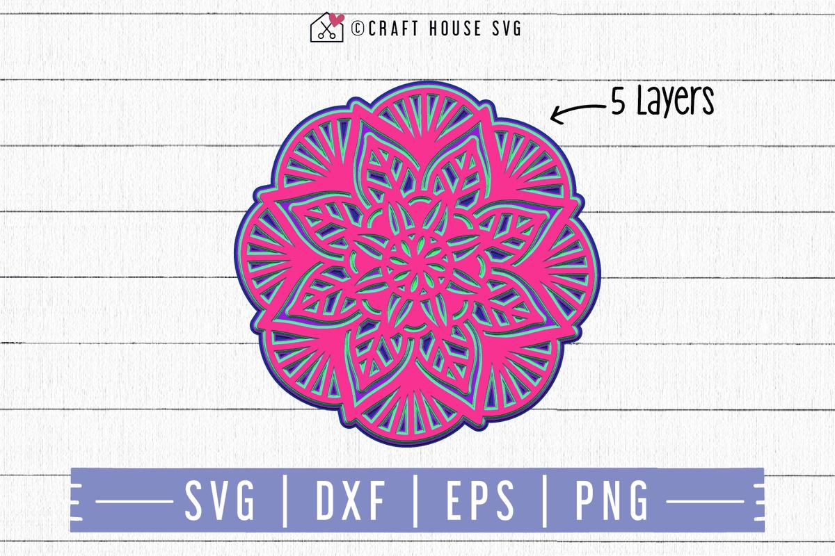 Download FREE 3D Layered Mandala SVG | FB91 - Craft House SVG