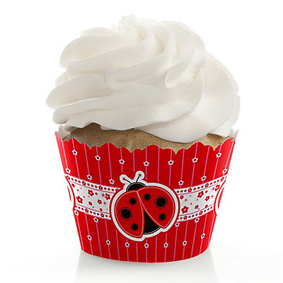 Modern Ladybug - Party Cupcake Wrappers