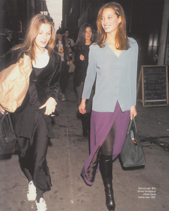 Kate Moss, Fashion model, Style