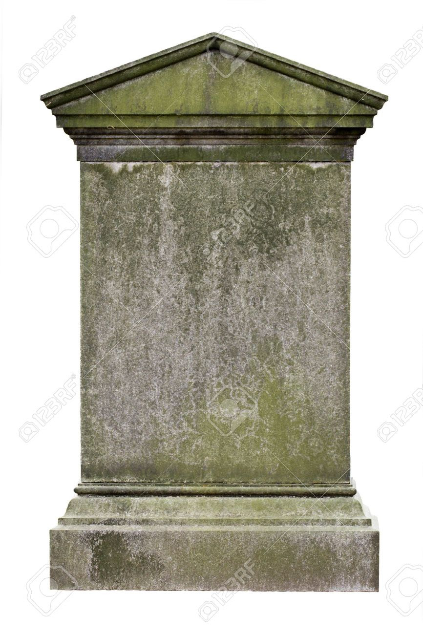 Blank Gravestone, Ready For An Inscription Stock Photo, Picture ...