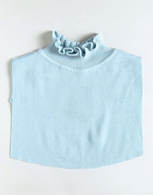 Le Fashion Blog Fall Style Sleeveless Light Blue Ruffled Collared Bib Via ASOS