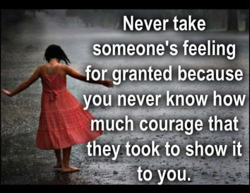 Never Take Someones Feeling For Granted Quote Picture