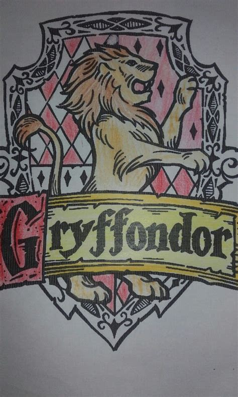 blason gryffondor coloriage avec images serdaigle