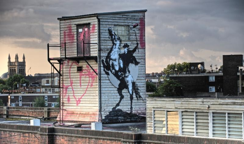 Bansky Masked Horseman Graffiti Artist Picture