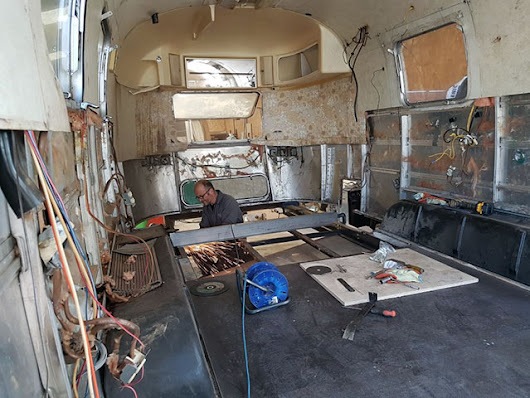 A damaged chassis is repaired - American Retro Caravans Blog