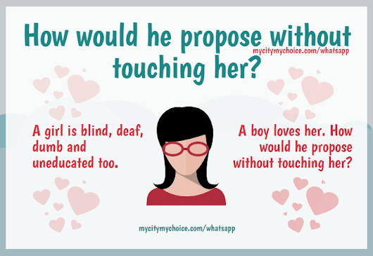 How would he propose without touching her? | Whatsapp Puzzle