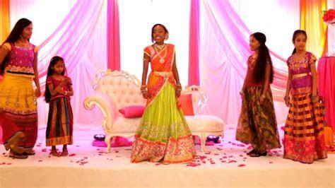 indian wedding video films chicago Half Saree Ceremony