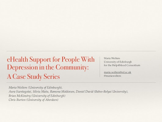 eHealth Support for People with Depression - Lessons from Case Studies